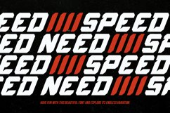 Speed Rush - A Car Racing Display Font Product Image 4