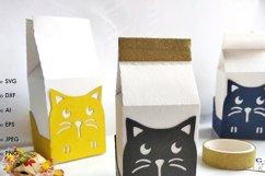 Milk box svg template candy box svg treat box template svg Product Image 4