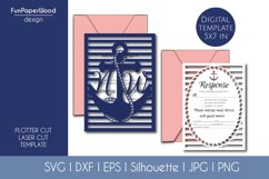 Anchor Pocket Invitation A7 5x7 Svg Dxf Eps Silhouette Cameo Product Image 2