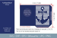 Anchor Pocket Invitation A7 5x7 Svg Dxf Eps Silhouette Cameo Product Image 3