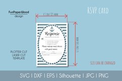 Anchor Pocket Invitation A7 5x7 Svg Dxf Eps Silhouette Cameo Product Image 4