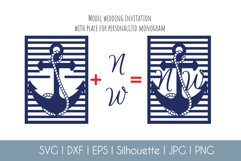 Anchor Pocket Invitation A7 5x7 Svg Dxf Eps Silhouette Cameo Product Image 5