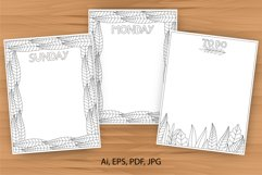 Daily planner, 10 coloring planner pages Product Image 1