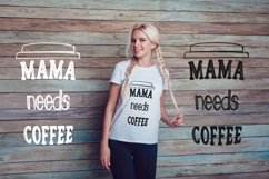 Mama needs coffee PNG, Sublimation. Product Image 4