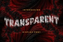 Transparent Font Product Image 1