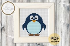 Cartoon Penguin Cross Stitch Pattern - Instant Download PDF Product Image 1