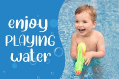 Water Shower - Cute Font Product Image 4