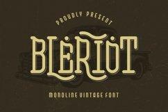 Bleriot - Monoline Vintage Font Product Image 1