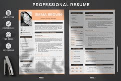 Modern CV with picture, Cover Letter and References Page Product Image 2