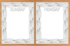 Daily planner, 10 coloring planner pages Product Image 4