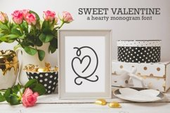 Web Font Sweet Valentine - A Monogram Font Product Image 1