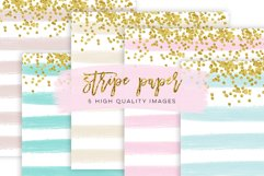 Stripe Confetti Gold Paper Texture, mint Stripe Paper Texture, pink gold Stripe Confetti Paper, Cream paper, printable paper, party supplies Product Image 3