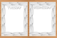 Daily planner, 10 coloring planner pages Product Image 5