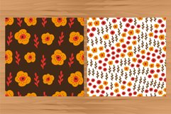 Flowers digital papers. 6 floral seamless patterns. Product Image 4