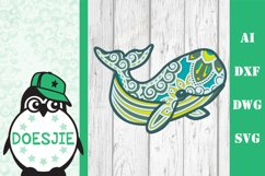 Whale SVG layered 3d multi layer mandala sea animal nautical Product Image 11