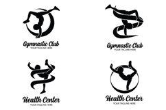 Set of gymnastics logo design templates Product Image 1