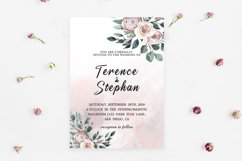 Floral Wedding Invitation Template Product Image 2