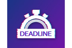 Dates and Deadlines icon. Glitch icon. Time icon. Product Image 1