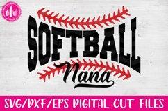 Softball Nana - SVG, DXF, EPS Cut Files Product Image 1