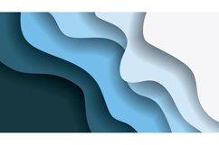 set bundle vector background . wave design illustration Product Image 3