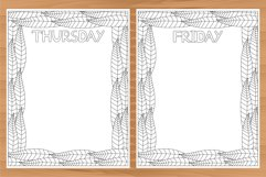 Daily planner, 10 coloring planner pages Product Image 3