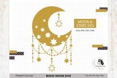 Boho Moon SVG Crescent Moon SVG Half Moon Svg Product Image 1