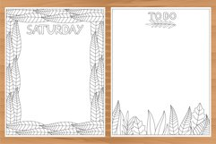 Daily planner, 10 coloring planner pages Product Image 2