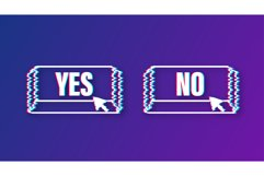 Yes and No button. Feedback concept. Positive feedback Product Image 1