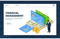 Financial management. Online banking, credit, finance landin Product Image 1