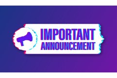Megaphone with important announcement. Glitch icon Product Image 1