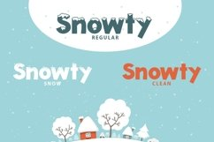 Web Font Snowty 3 Font Product Image 3