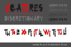 Red-and- Black OTF font Product Image 3