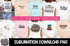 Sublimation designs for tshirts best sellers bundle-PNG Product Image 4