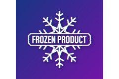 Blue frozen product on white background. Food logo. Product Image 1