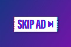 Skip advertisement web glitch icon isolated on the white Product Image 1
