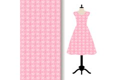 Women dress fabric with pink pattern Product Image 1