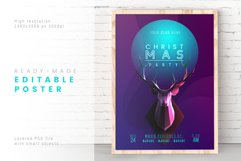 Trendy Christmas Poster / Layered PSD Product Image 1