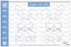 Bunny face bundle svg, Cool Easter bunny with sunglasses svg Product Image 3