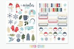 500 Winter & Christmas Digital & Printable Planner Stickers Product Image 2