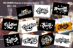 Alcoholic Drinks Set. Lettering Product Image 2