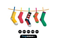 Socks Clipart Product Image 1