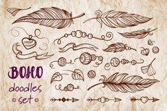 Boho doodles vector set Product Image 1