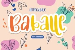 Web Font Baballe - Cute Kids Font Product Image 1