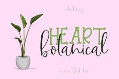 Web Font Botanical Heart Product Image 1