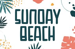 Sunday Beach - Cute Display Font Product Image 1