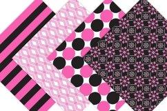 Pink and Black Digital Paper - Bohemian Product Image 5