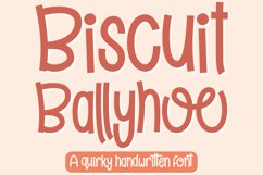 Biscuit Ballyhoo - A quirky handwritten font! Product Image 1