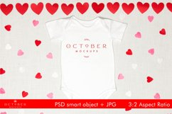 Valentine's Day Mockup Baby Onepiece  JPG PSD smart object Product Image 1