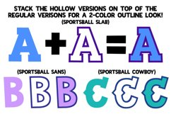 Sportsball - fun font with alternates! Product Image 3