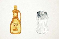 Watercolor Condiments Clipart, Condiments Clip Art, Sauces Product Image 3